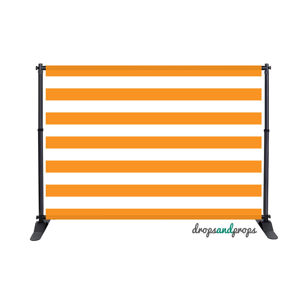 Orange Striped Photography Backdrop