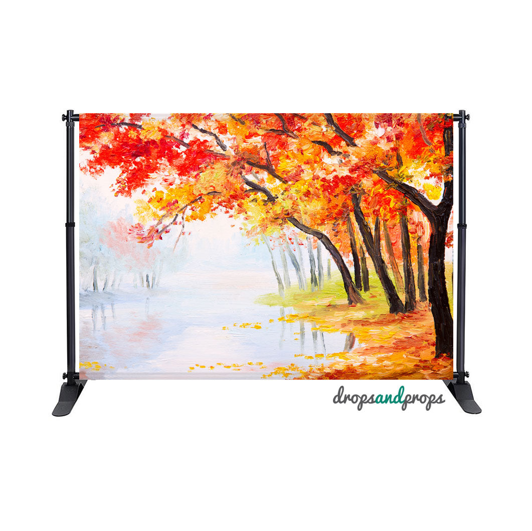 Painted Fall Photography Backdrop