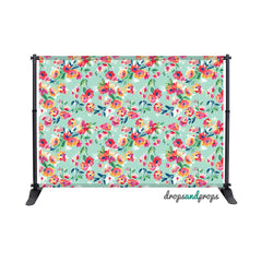 Painted Flowers Photography Backdrop