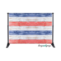 Patriotic Wood Floor Photography Backdrop