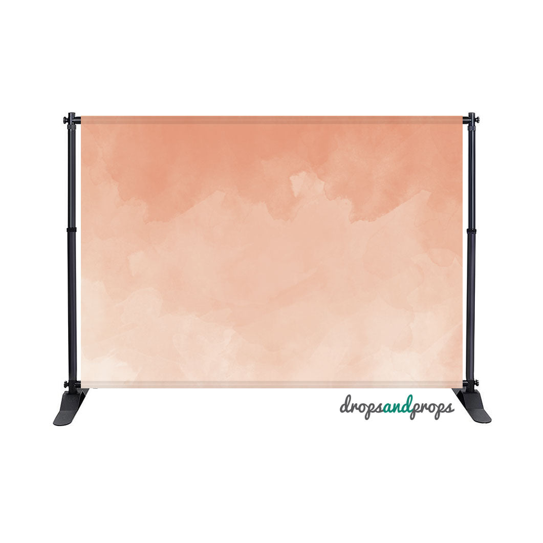 Peach Watercolor Photography Backdrop