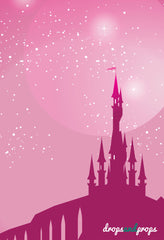 Pink Castle Photography Backdrop
