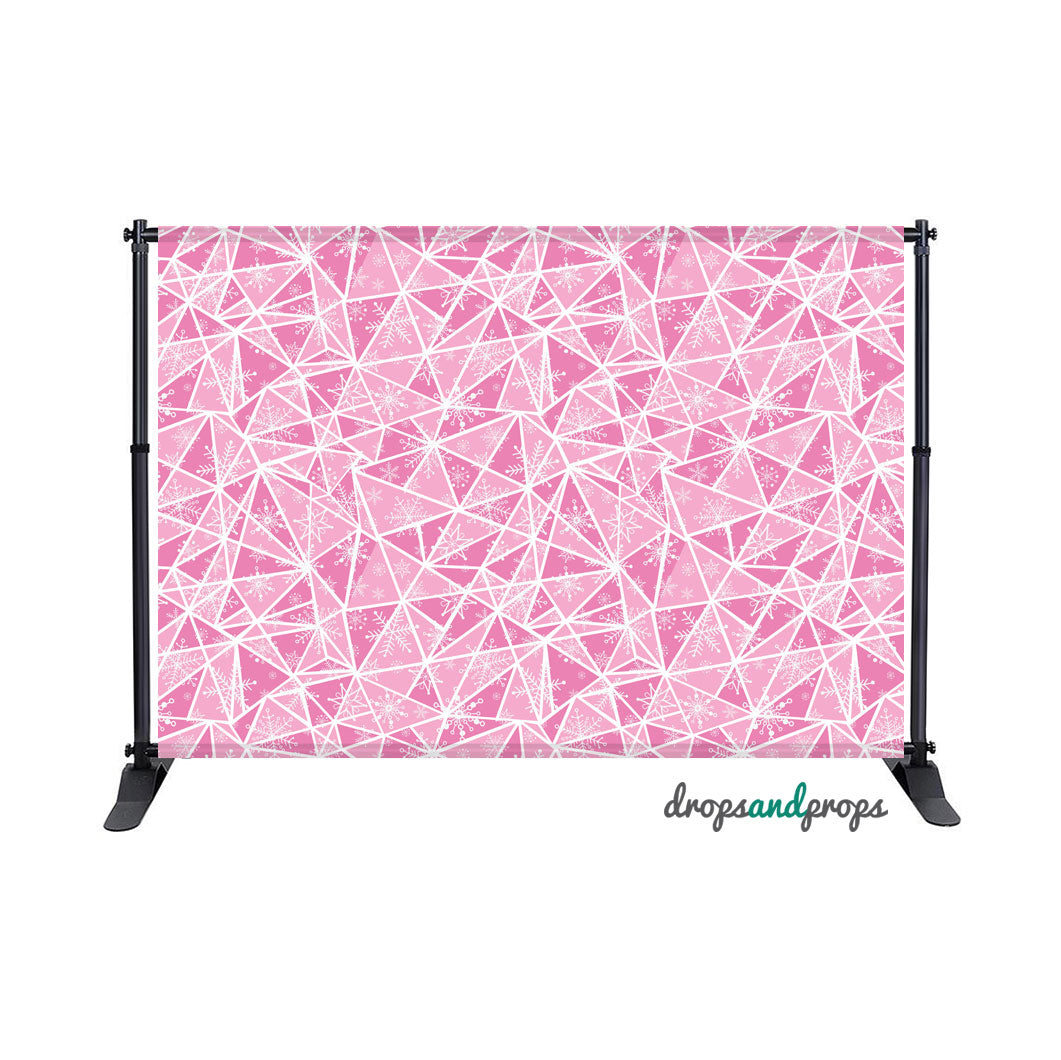 Pink Winter Pattern Photography Backdrop