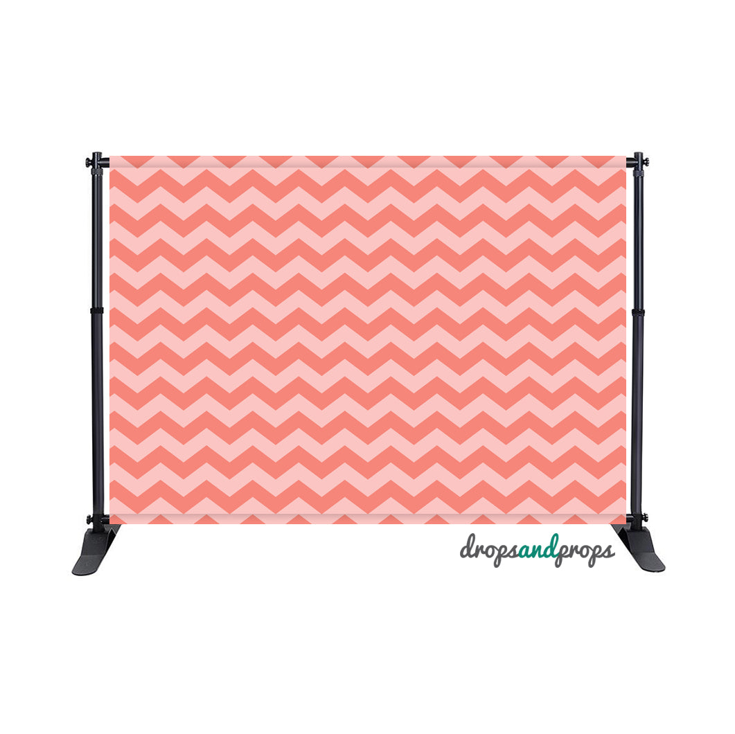Pink Chevron Photography Backdrop