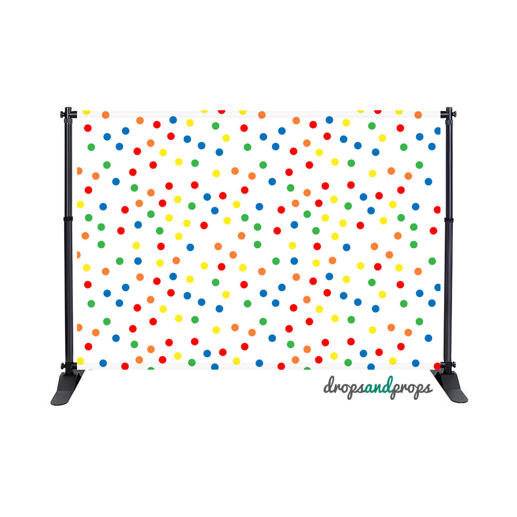 Rainbow Polka Dots Photography Backdrop