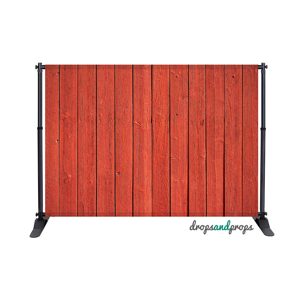 Red Barn Wood Photography Backdrop