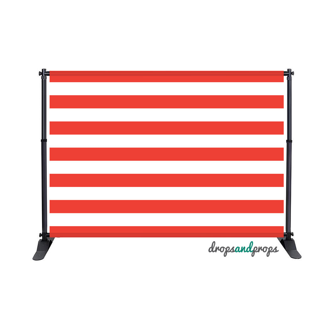 Red Striped Photography Backdrop