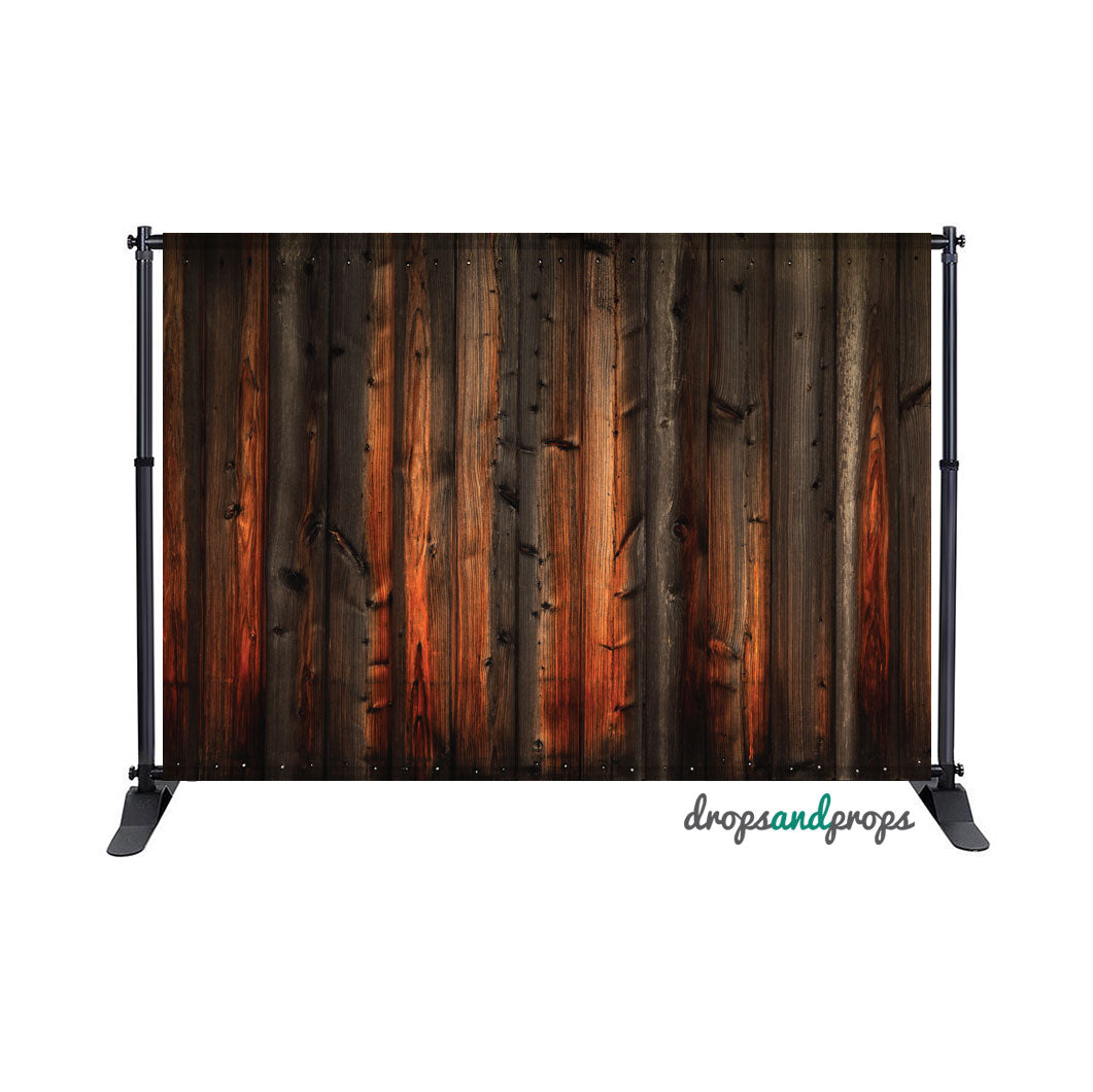Rich Dark Wood Photography Backdrop