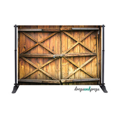 Rustic Wood Door Photography Backdrop