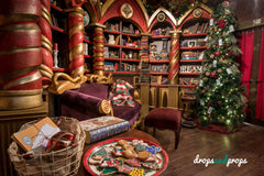 Santa's Study Photography Backdrop