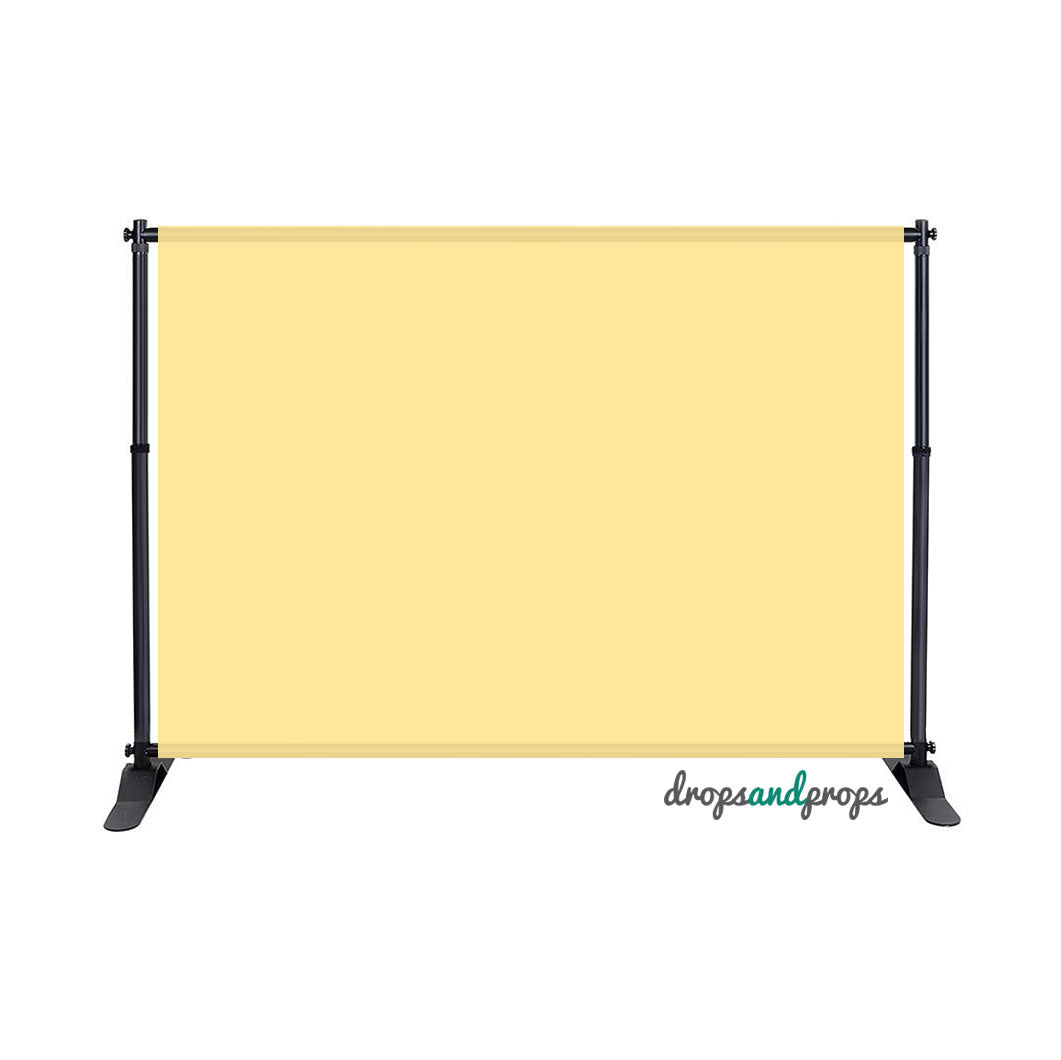 Soft Yellow Solid Photography Backdrop