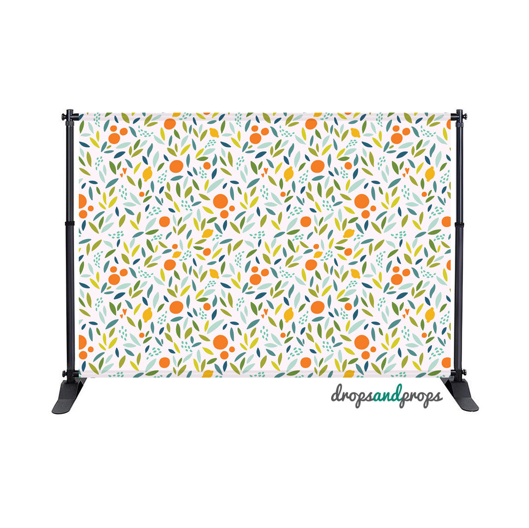 Summer Citrus Photography Backdrop