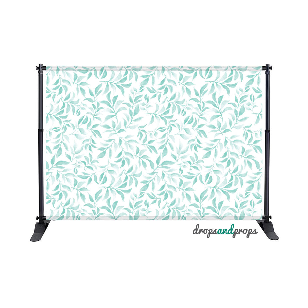 Teal Leaves Photography Backdrop