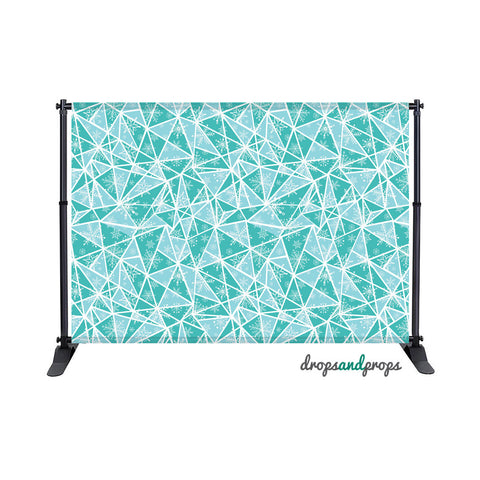 Teal Winter Pattern Photography Backdrop