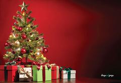 Tree & Presents Photography Backdrop