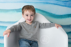 Blue Ocean Waves Photography Backdrop