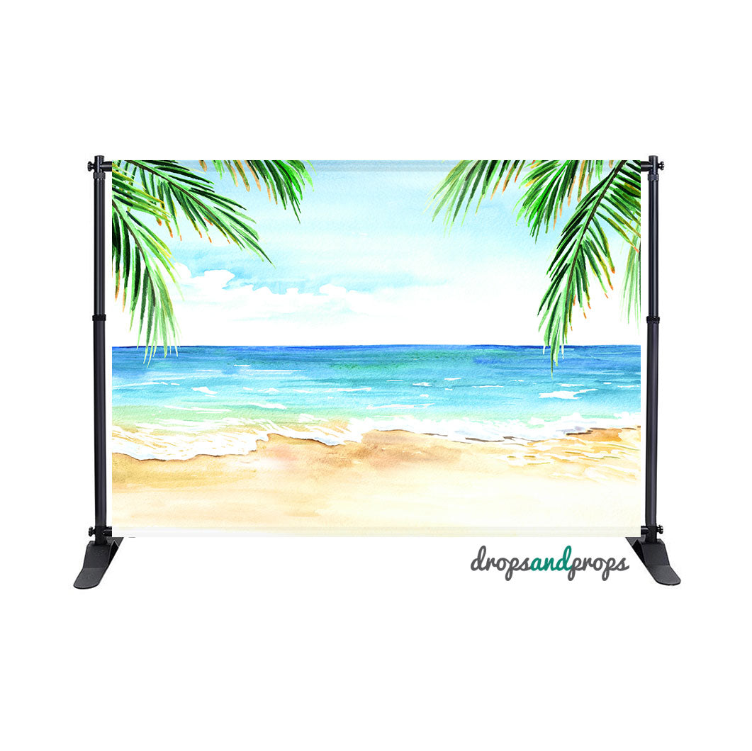 Watercolor Beach Photography Backdrop