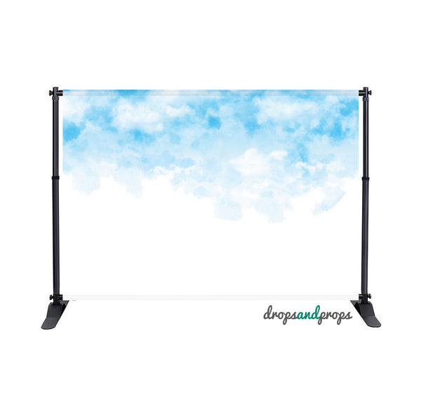 Watercolor Clouds Photography Backdrop