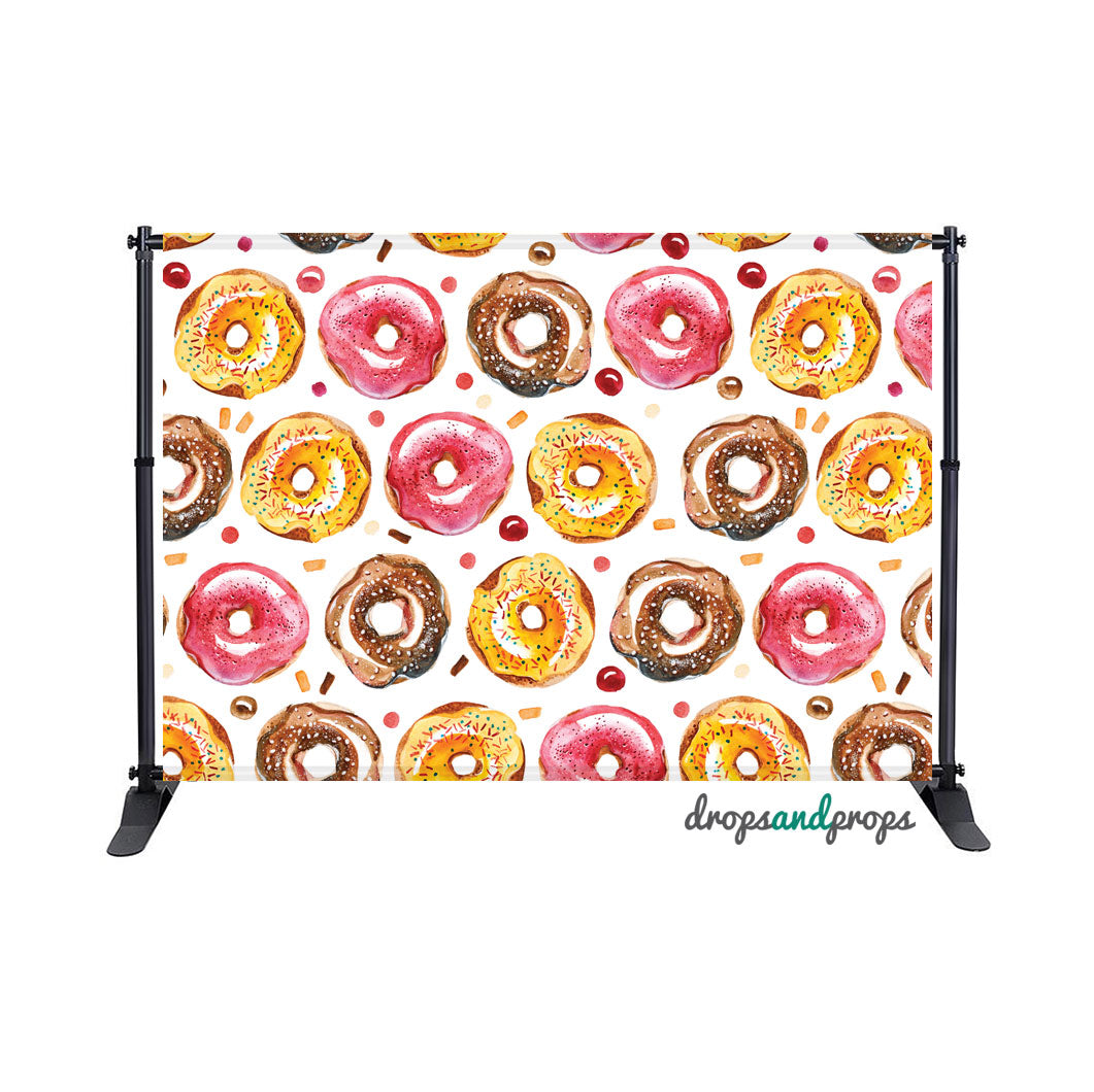 Watercolor Donuts Photography Backdrop