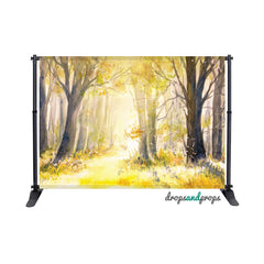 Watercolor Forest Photography Backdrop