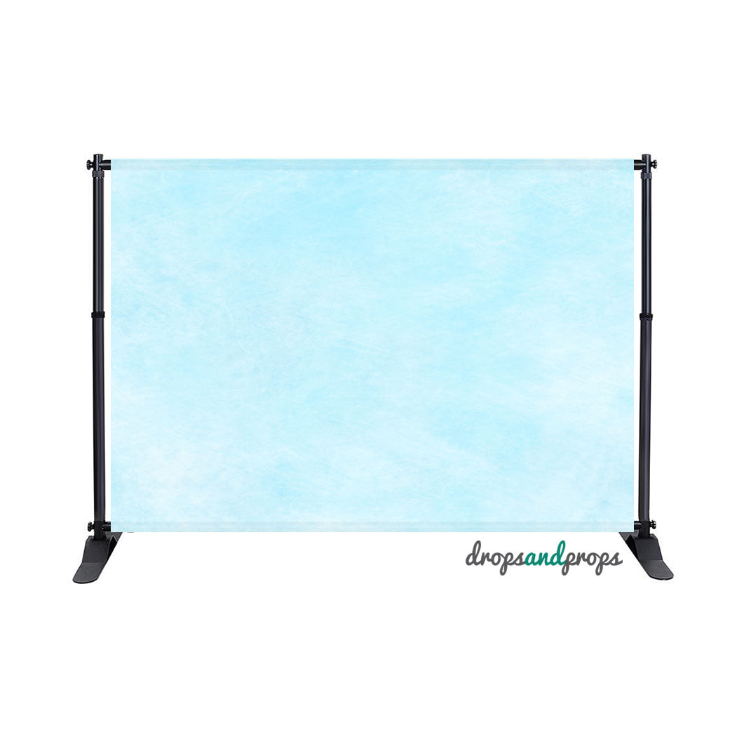 Watercolor Sky Blue Photography Backdrop
