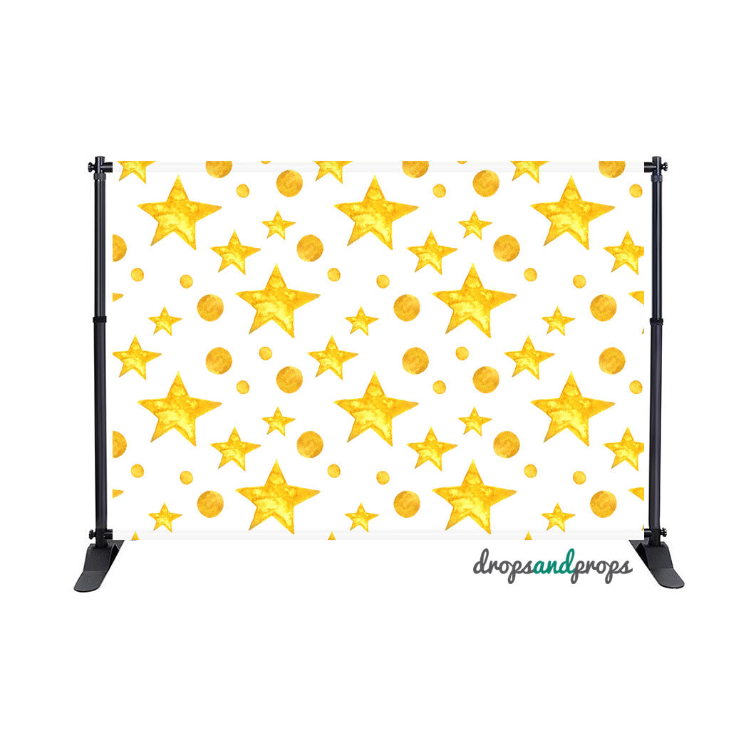 Watercolor Stars Photography Backdrop