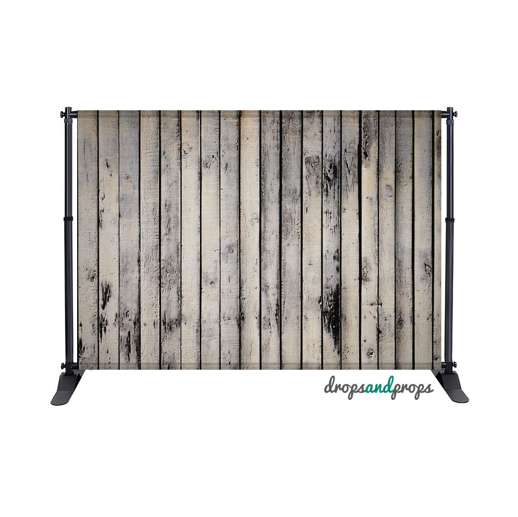 Weathered Gray Wood Photography Backdrop