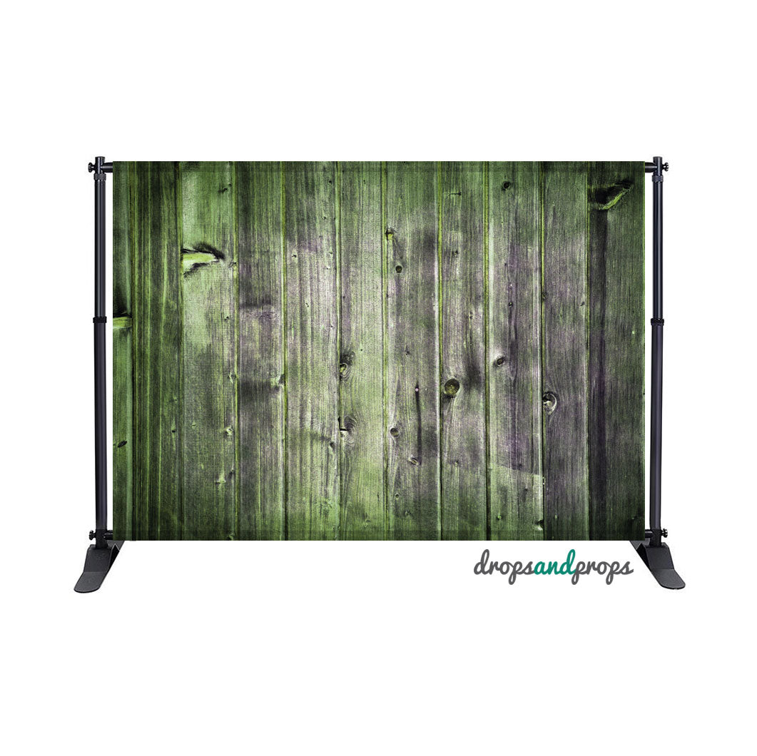 Weathered Green Wood Photography Backdrop