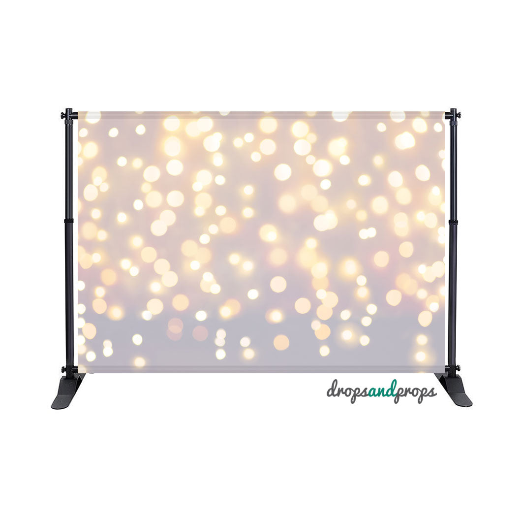 White Bokeh Photography Backdrop
