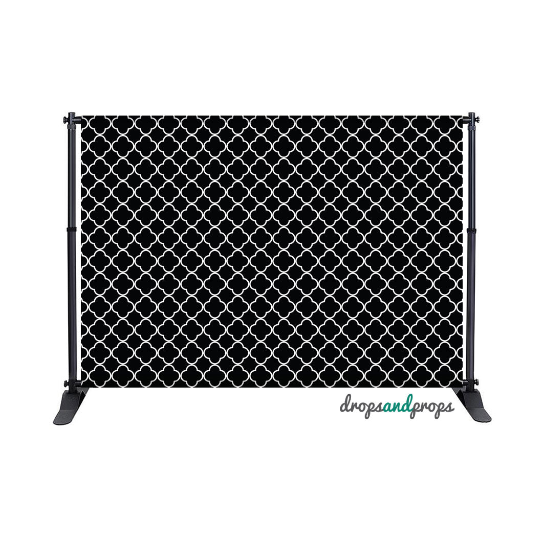 Black & White Quatrefoil – Photography Backdrop