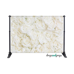 White Roses Photography Backdrop