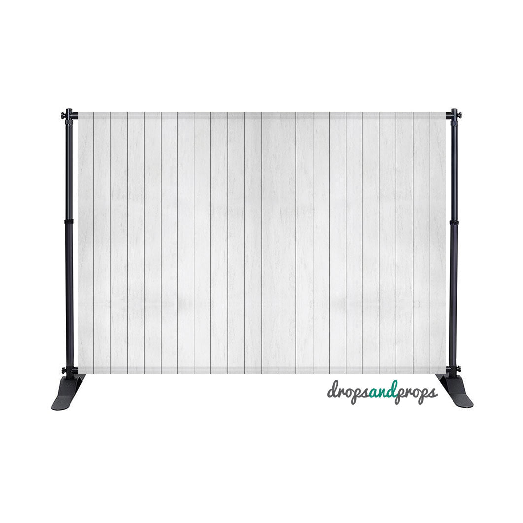 White Wainscot Photography Backdrop