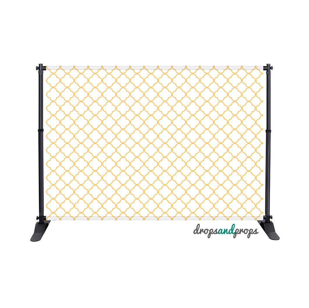 Mustard & White Quatrefoil Photography Backdrop