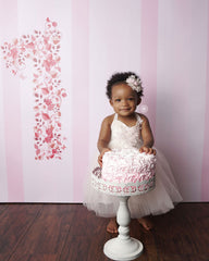 Floral First Birthday Photography Backdrop