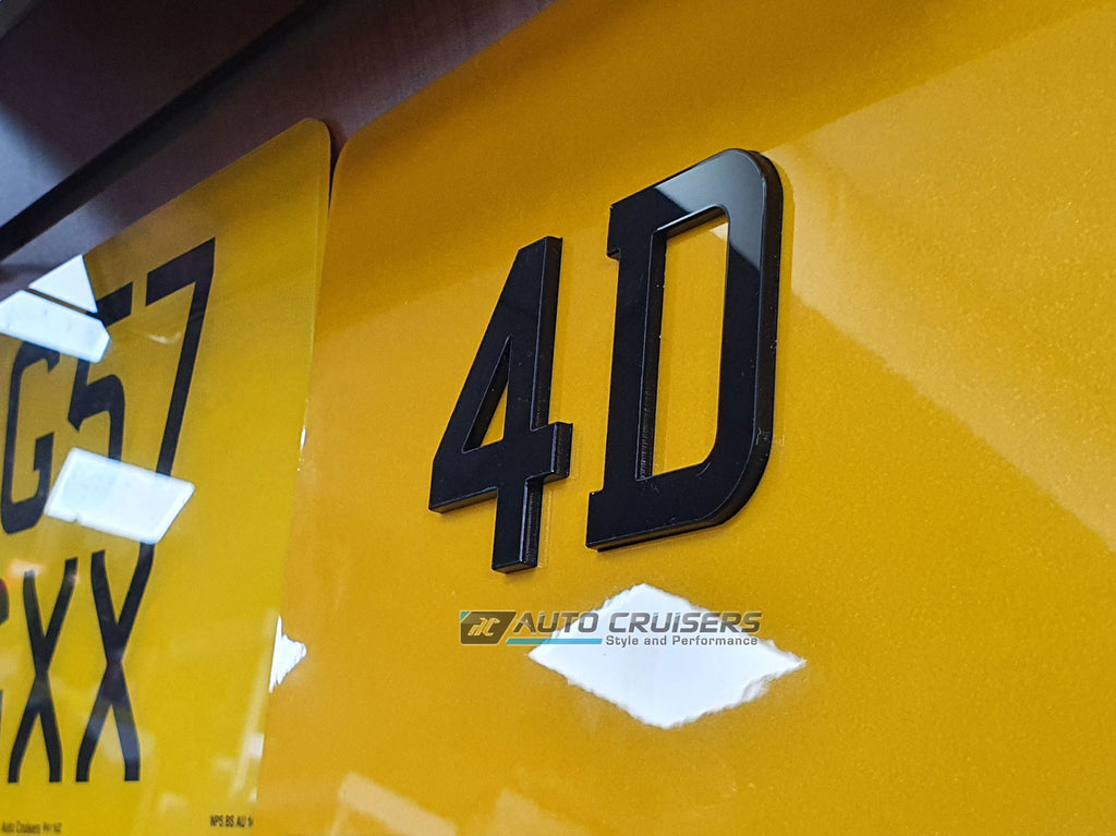 4D Motorcycle Number Plate