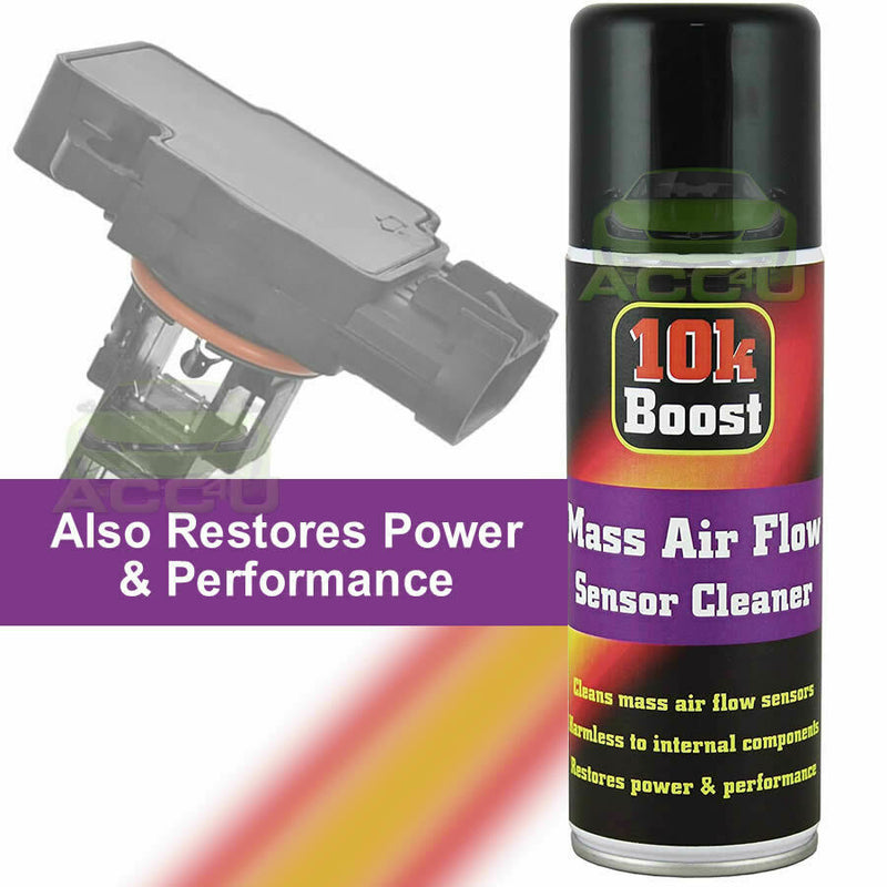 10K Boost Car MAF Mass Air Flow Sensor Cleaner Spray Restores Power Performance