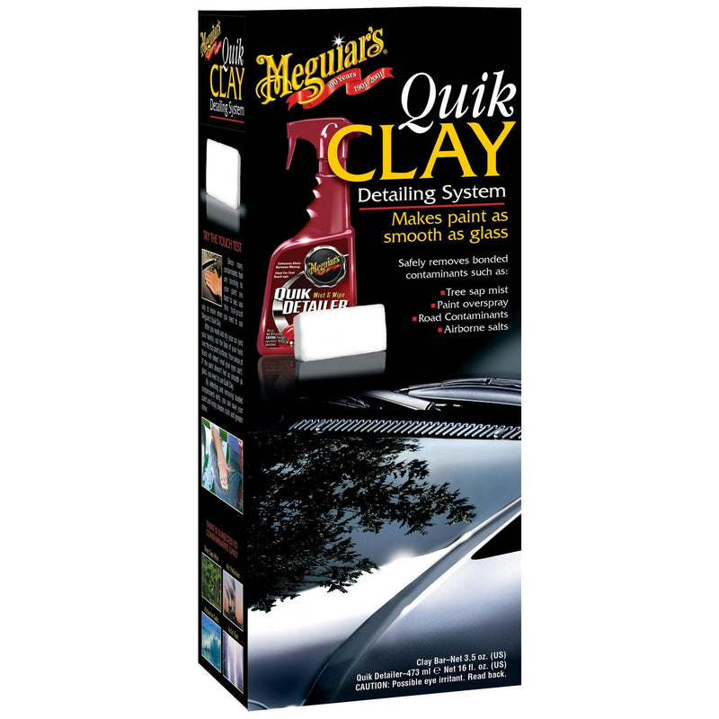 Meguiars Car Paint Quick Quik Clay Detailing System Kit+Cloth+Polish Pad