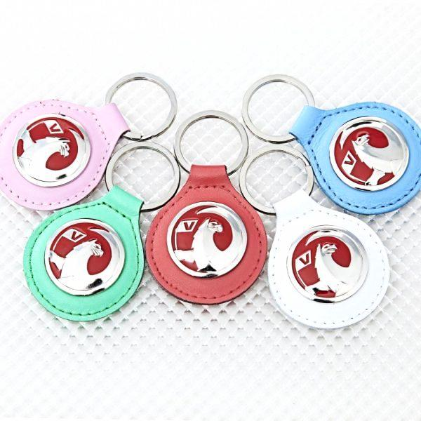 Richbrook Vauxhall Official Licensed Real Leather Vauxhall Car Keyring