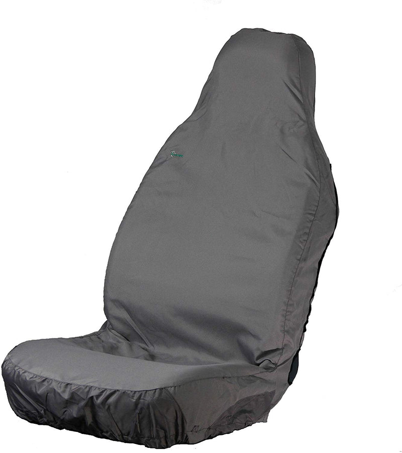 Town & Country Muddy Waterproof 3D GREY Car Front Single Seat Cover Protector