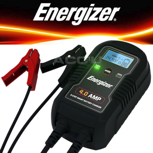 Energizer 50904 6v 12v 4A 9 Step Car Van Bike Smart Battery Charger & Maintainer