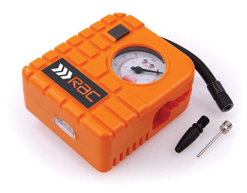 RAC 12v Car Motorcycle Motor Bike Compact Mini Tyre Air Compressor Inflator Pump