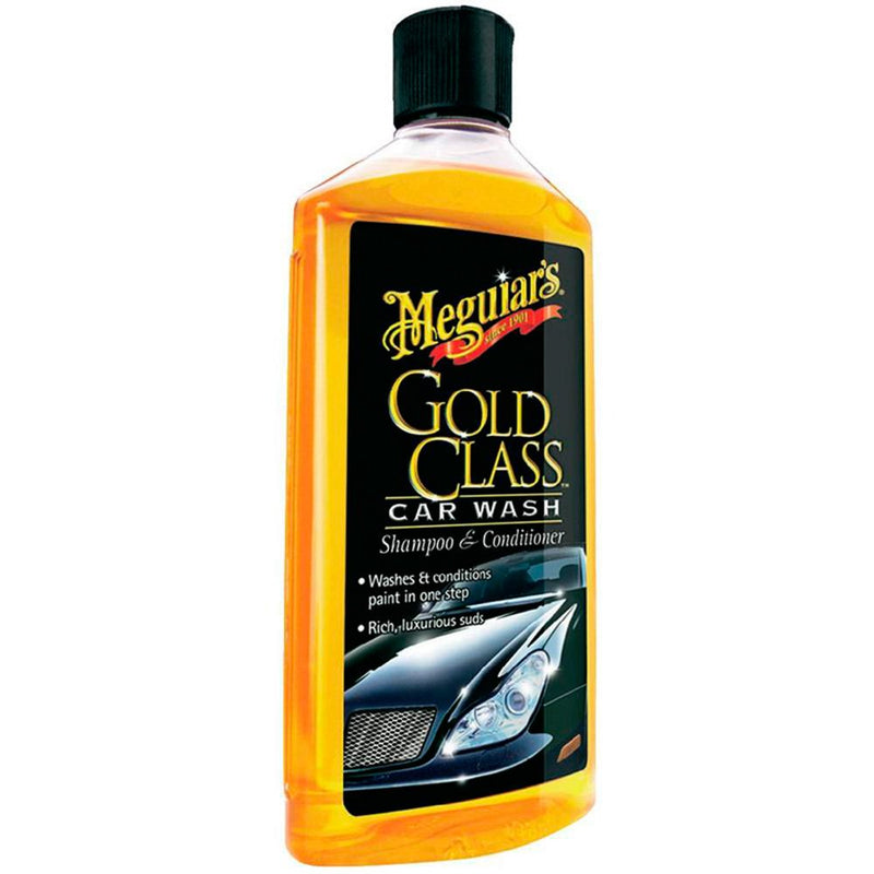 Meguiars Gold Class Car Wash Shampoo & Conditioner 473ml+Microfiber Cloth+Pad