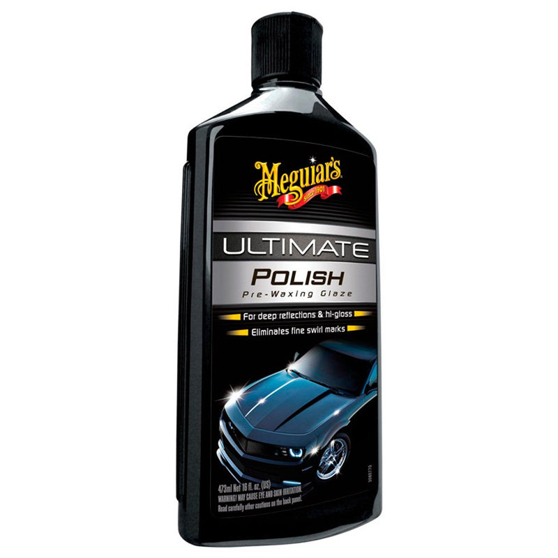 Meguiars Car Ultimate Hi Gloss Shine Polish Pre Waxing Glaze+Cloth+Polish Pad