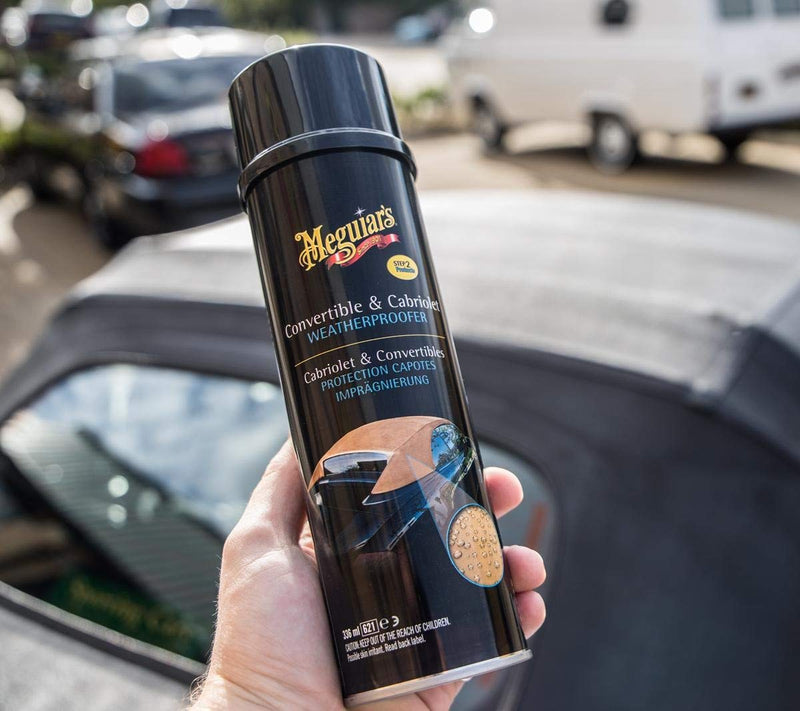 Meguiars Convertible & Cabriolet Car Weatherproofer Protection+Cloth+Polish Pad
