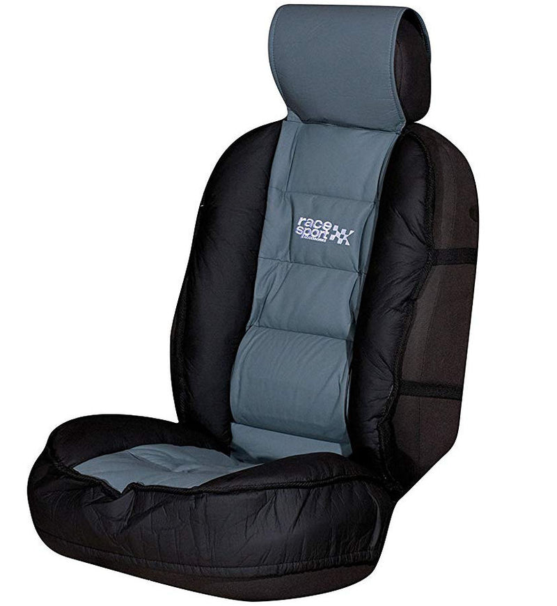Race Sport Grey Black Luxury Padded Lumbar Side Support Car Single Seat Cover Cushion
