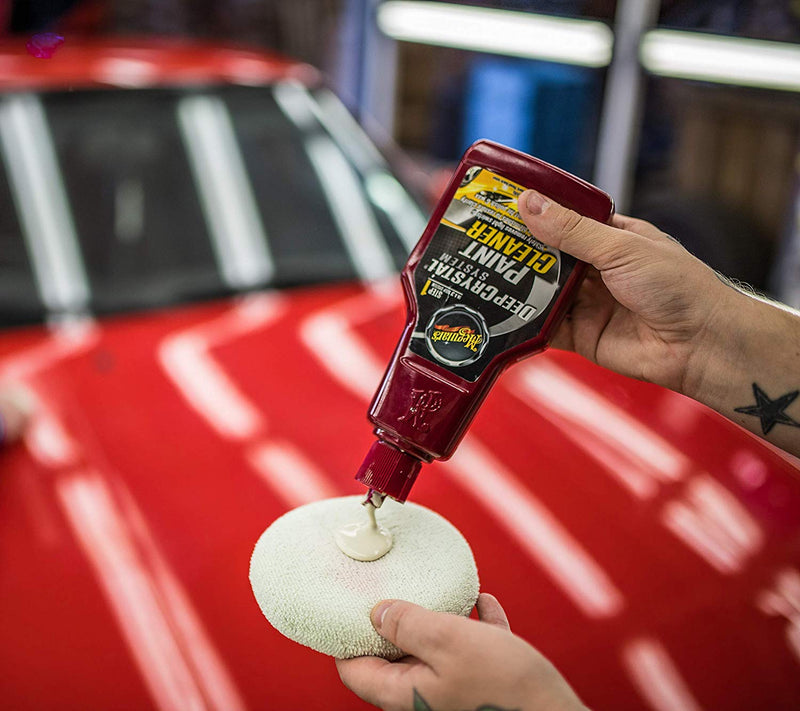 Meguiars Step 1 Deep Crystal System Car Paint Cleaner Restorer+Cloth+Polish Pad