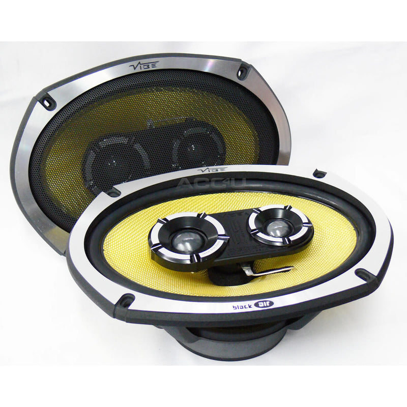 "Vibe BlackAir69 BA69 BA9 6x9"" inch 1050w 3-Way Car Rear Parcel Shelf Coaxial Speakers Set"