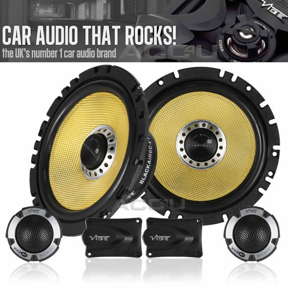 "Vibe Blackair Comp 6 BA6C-V1 6.5"" inch 17cm Car Door Component Speakers System Set"