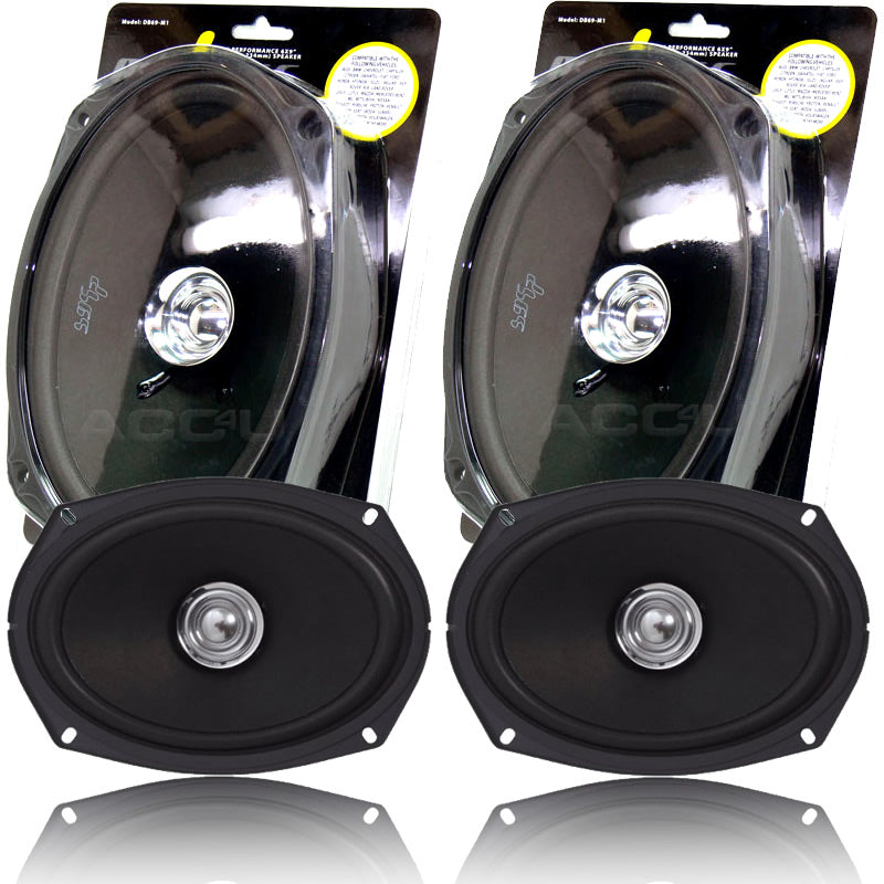 "Midbass Vibe DB69 High Performance 6x9"" inch Car Rear Parcel Shelf Coaxial Speakers Set"