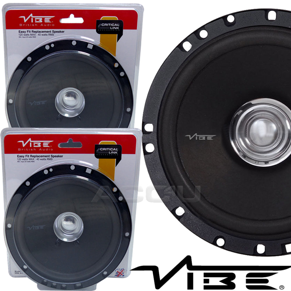 "Vibe Audio DB6 High Performance 6.5"" inch Car Door Coaxial Replacement Speakers Set"